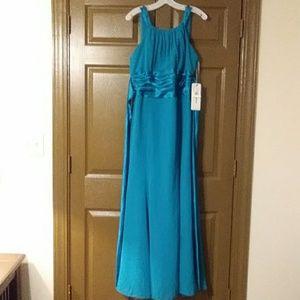 Teal Bridesmaid or Prom Dress